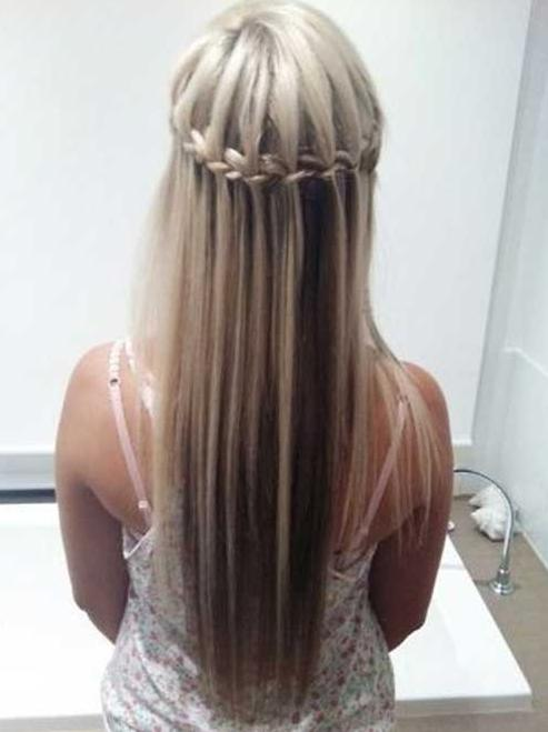 waterfall braid lowlights