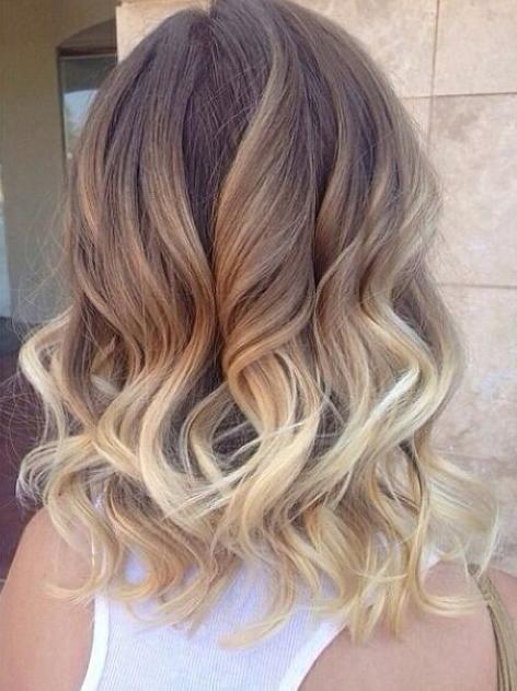 bronde ombre curls