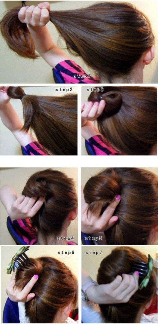hair simple elegant bun tutorial