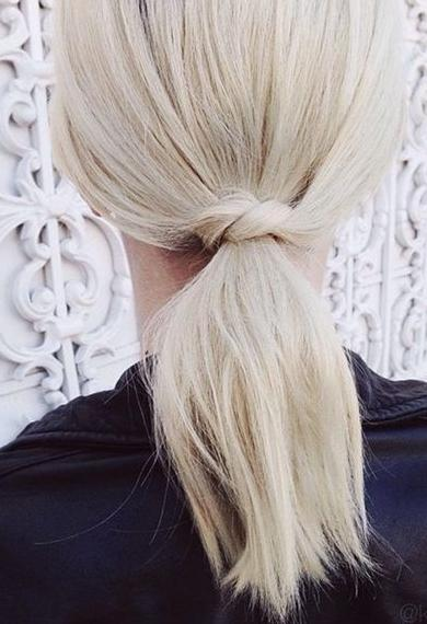 ponytail with an unexpected twist