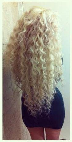 super long curly hair
